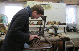 Ivo Geikie-Cobb at work in his West Country workshop